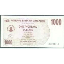 Zimbabwe 1.000 Dólares Cheque Pk 44 (1-8-2.006) S/C