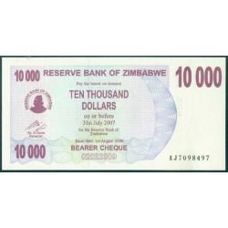 Zimbabwe 10.000 Dólares Cheque Pk 46b (1-8-2.006) S/C