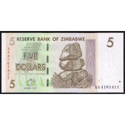 Zimbabwe 5 Dólares PK 66 (2.007) S/C