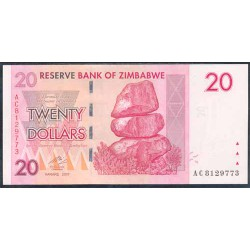 Zimbabwe 20 Dólares PK 68 (2.007) S/C