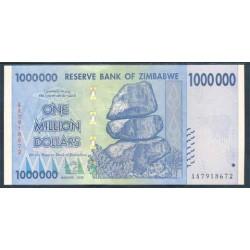 Zimbabwe 1 Millón de Dólares PK 77 (2.008) S/C