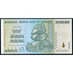 Zimbabwe 50 Millones de Dólares PK 79 (2.008) S/C