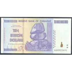 Zimbabwe 10 Billones de Dólares PK 85(2.008) S/C