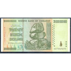 Zimbabwe 20 Billones de Dólares PK 86 (2.008) S/C