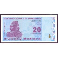 Zimbabwe 20 Dólares PK 95 (2.009) S/C