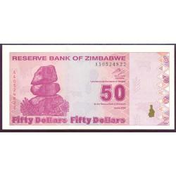 Zimbabwe 50 Dólares PK 96 (2.009) S/C