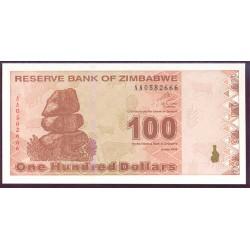 Zimbabwe 100 Dólares PK 97 (2.009) S/C