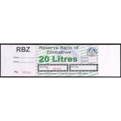 Zimbabwe Vale de 20 Litros de combustible S/C