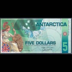 Antártica 5 Dólares (31-3-2.008) S/C