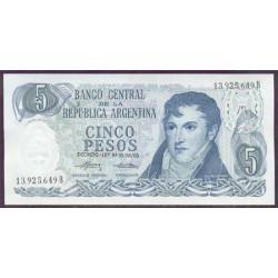 Argentina 5 Pesos PK 294 (1974-76) S/C-
