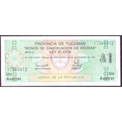 Argentina 1 Austral PK S 2711 (Tucumán) (1.991) S/C