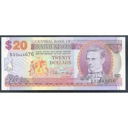 Barbados 20 Dólares PK 50 (1.997) S/C