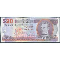Barbados 20 Dólares PK 69a (1-5-2.007) S/C