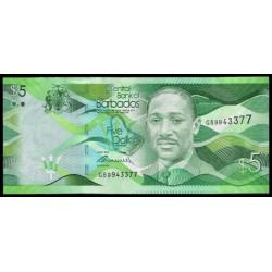 Barbados 5 Dólares PK 74 (2-5-2.013) S/C
