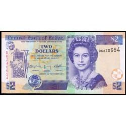 Belice 2 Dólares PK 66d (1-11-2.011) S/C