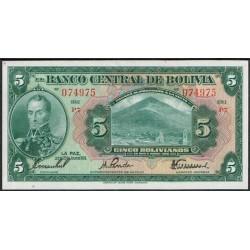Bolivia 5 Bolivianos PK 120 (1928) EBC