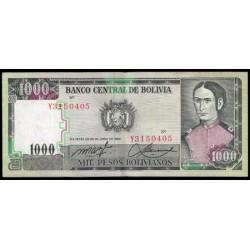 Bolivia 1000 Pesos Bolivianos PK 167a (25-6-1.982) MBC-