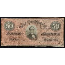 Estados Confederados 50 Dólares PK 70 (1.864) RC