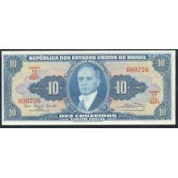 Brasil 10 Cruzeiros PK 167 a (1.961) S/C