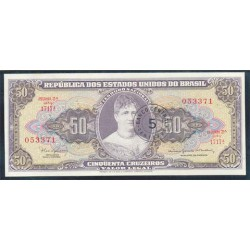 Brasil 5 Centavos en 50 cruceiros PK 184 b (1.966-67) S/C