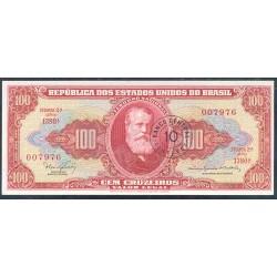 Brasil 10 Centavos en 100 Cruzeiros PK 185 b (1.966-67) S/C