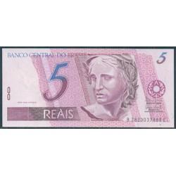 Brasil 5 Reales PK 244 Af (1997- ) S/C