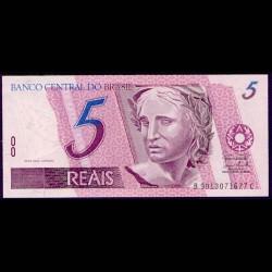Brasil 5 Reais PK 244 Ah (1.997- ) S/C