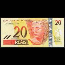 Brasil 20 Reais PK Nuevo (250f) (2.002- ) S/C