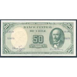 Chile 5 Centés. de Escudo en 50 Pesos PK 126 b (1960-61) S/C