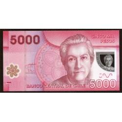 Chile 5.000 Pesos PK 163b (2.011) S/C