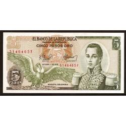 Colombia 5 Pesos de oro PK 406f (1-10-1.978) S/C
