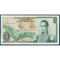 Colombia 5 Pesos de oro PK 406f (1-1-1.981) S/C