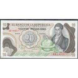 Colombia 20 Pesos de oro PK 409d (1-1-1.982) S/C