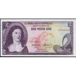 Colombia 2 Pesos de oro PK 413b (20-7-1.977) S/C