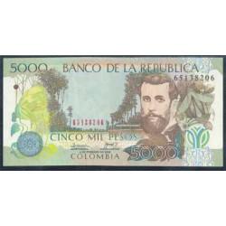 Colombia 5.000 Pesos PK 452e (4-2-2.006) S/C