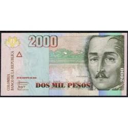 Colombia 2.000 Pesos PK 457k (20-8-2.009) S/C