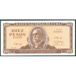 Cuba 10 Pesos PK 104d (1.987) S/C