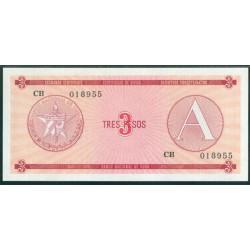 Cuba 3 Peso PK FX 2 S/C