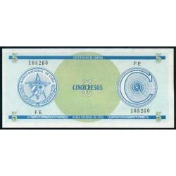 Cuba 5 Pesos PK FX 13 S/C
