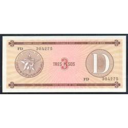 Cuba 3 Pesos PK FX 28 S/C