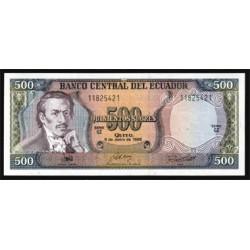 Ecuador 500 Sucres PK 124A (8-6-1.988) S/C