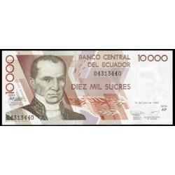 Ecuador 10.000 Sucres PK Nuevo (127) (12-7-1.999) S/C