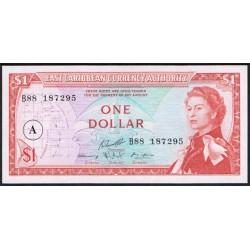 Est. Caribeños del Este (Antigua) 1 Dólar PK 13a (1.965) S/C