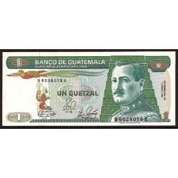 Guatemala 1 Quetzal PK 66 (4-1-1.989) S/C