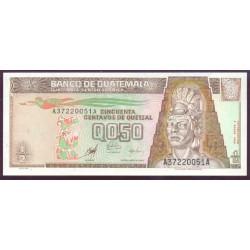 Guatemala 1/2 Quetzal PK 98 (9-1-1.998) S/C