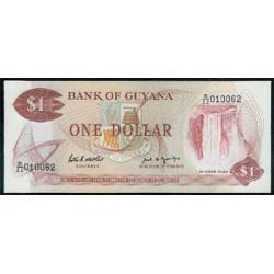 Guyana 1 Dólar PK 21 f (1.989) S/C