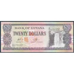 Guyana 20 Dólares PK 30e (2.006) (Firma 14) S/C