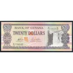 Guyana 20 Dólares PK 30 (1.996/06) Firma 13 S/C