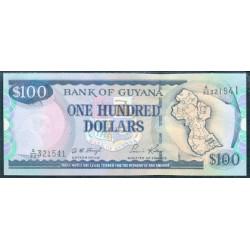 Guyana 100 Dólares PK 31 (1.999) Firma 12 S/C
