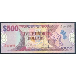 Guyana 500 Dólares PK 34b (2.002) S/C